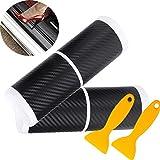 Mengger pegatina protectores umbral puerta 8 Piezas Protectoras fibra de carbono Estribos para...