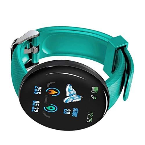 B Blesiya Rastreador de La Aptitud del Deporte del Monitor de La Presión Arterial del Cardíaco del Smart Watch de Bluetooth - Verde