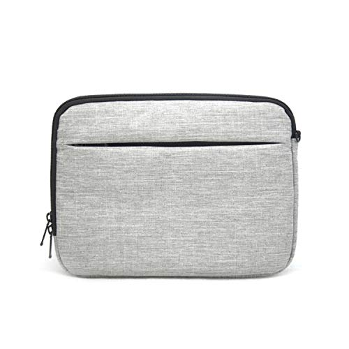 Patu Portable 9-11 Inch Tablet Sleeve Case, Accessories Organizer, Document Pocket, Protective Cover Bag for Apple iPad Air/Pro 11 10.5 10.1 9.7 Gen 2 3 4 Android Galaxy Tab, Gray