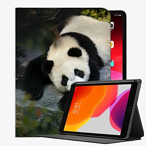 para iPad Air2 9,7 Pulgadas Cubierta de la Caja, Caja Delgada de la Caja del Animal Linda Panda para iPad Air2 9.7 Pulgadas