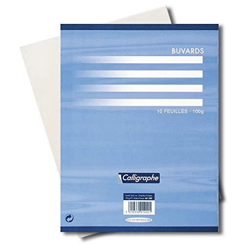 Clairefontaine 1002 C 16 x 21 cm), color papel secante (Pack de 10 hojas)