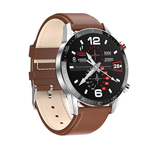 ZWW L13 Pantalla táctil de los Hombres Smart Watch Bluetooth Call Heart Rate Detection Detection Dial Dial Impermeable Padre Regalo al Padre,E