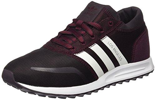adidas - Los Angeles, Scarpe da ginnastica Unisex – Adulto, Viola (Maroon/Ftwr White/Maroon), 41 1/3 EU