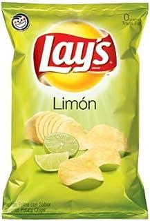 Lays Limon Potato Chips 10oz Bags (10 Pack)