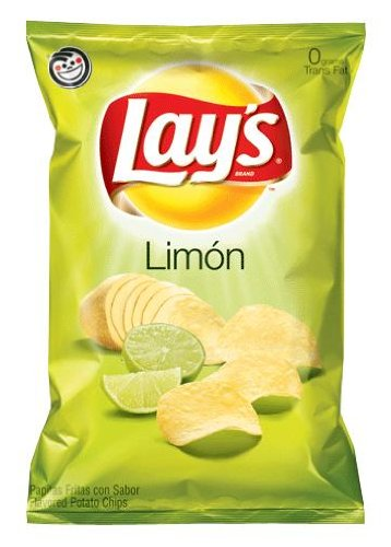 Lays Limon Potato Chips 10oz Bags (10 Pack)