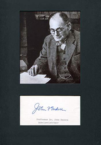 John Franklin Enders original Autogramm/Autograph/signiert