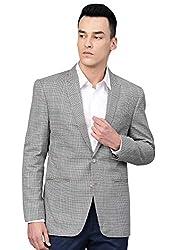 ManQ Mens Slim Fit Casual/Formal Check Blazer