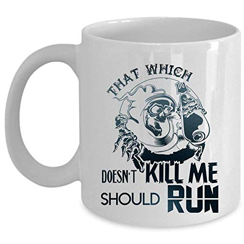 Cool Gift For Runner Coffee Mug, Funny Running Cup (Taza de café - BLANCO)