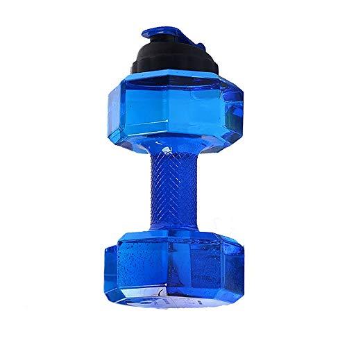 AZJ-AJR Wasserflasche Dumbbells, Wasser Befüllbar Dumb Eignungdumbbells Bodybuilding Zubehör Perfekte Fitness Geschenk Für Familie,Blau