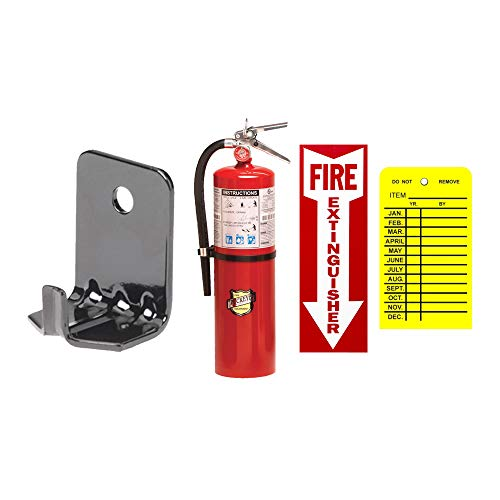10 Lb Fire Extinguisher ABC Type Dry Chemical Buckeye with Wall Hook, Sign and Tag