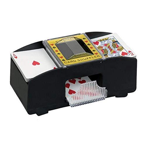 BSTCAR Kartenmischmaschine, Professioneller Automatischer Kartenmischer Elektrisch, 2 Decks Elektrische Mischmaschine Als Kartenmischgerät Batteriebetrieben