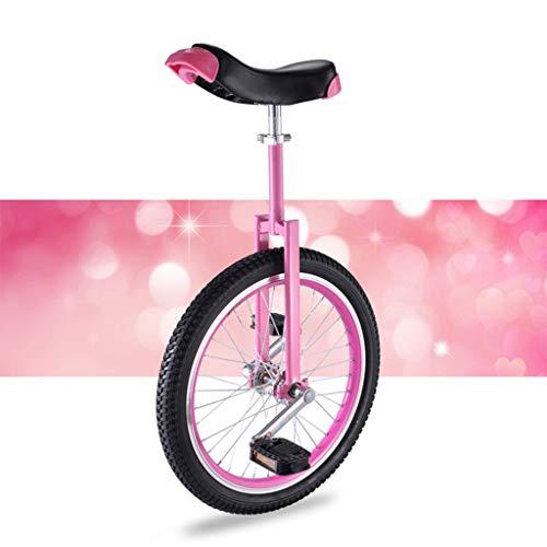 OFFA Erwachsene Kinder Anfänger Teen Einrad 16 18 20-Zoll-Rad Skidproof Butyl Berg Reifen, Einstellbare Einräder Seat, Anti-Skid Acrobatics Bike Gleichgewicht Berg Übungs-Fahrrad