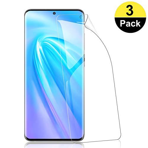 RIIMUHIR Protector de Pantalla de Hidrogel para Samsung Galaxy S20 Plus [3 Unidades], [ID de Huella Digital de Soporte], [Cobertura Completa], Protector de Pantalla TPU para Samsung Galaxy S20 Plus