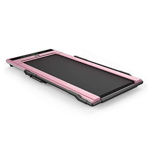 IPO Treadmill Smart Walk Slim Tread Folding Treadmill Intelligent Speed Control Compact Treadmill Under Desk (Pink)