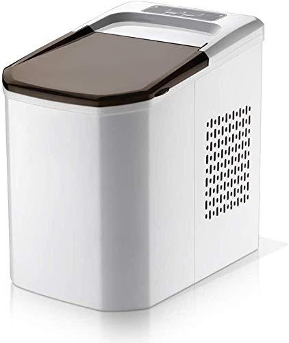 HEMFV Tragbare Eismaschine Portable-Maschine, Zähler Top Eisherstellungsmaschine, tragbare elektrische High Efficiency Express EIS, 36lb von EIS pro 24 Stunden (weiß)