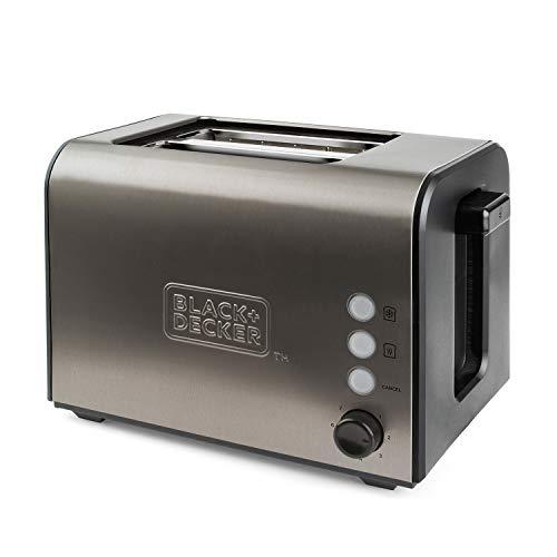 Black+Decker ES9600060B BXTO900E Toaster, 900, Edelstahl, Grau