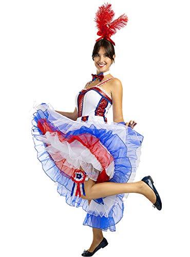 Funidelia | Disfraz Moulin Rouge para Mujer Talla M Aos 20, Cabaret, Charleston, Dcadas - Multicolor