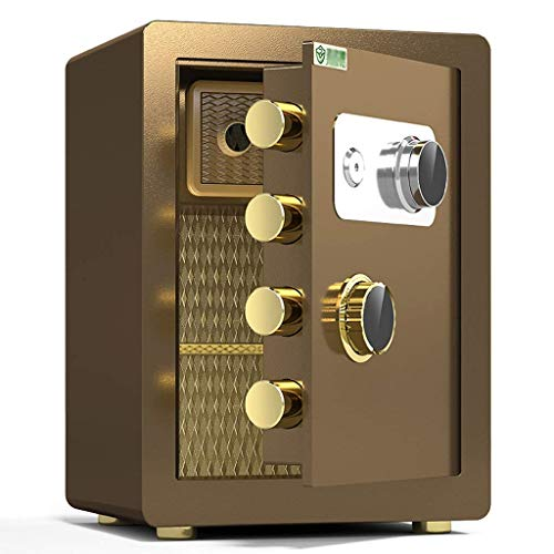 Caja fuerte de seguridad, caja fuerte mecánica, gabinete de seguridad de acero pequeño de 45 cm para el hogar, prevención de incendios, antirrobo, caja de almacenamiento de documentos de gran capacid