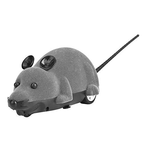 Raton Gato Ratones Electrónicos De Juguete Peludo Gatos Lindos Animal Doméstico Ratón Catcher Animales Juguetes Regalo Divertido Novedad De Rata con Control Remoto(Gris)