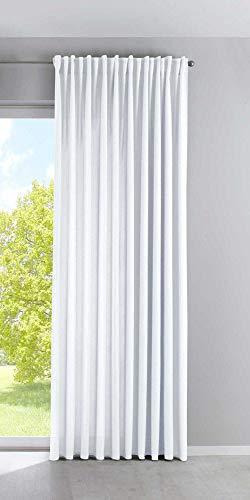 Vorhang Blickdicht »Palermo« HxB 250x300 cm Weiß Gardine Extra Breit Matt Lichtdurchlässig Verdeckte Schlaufen Raffhalter Gardinenband, 100002651
