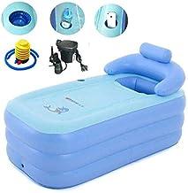 Blauw Kleur Opblaasbare Badkuip Plastic Portable Opvouwbaar Opblaasbare bad badkuipen Met Elektrische luchtpomp for kinder...