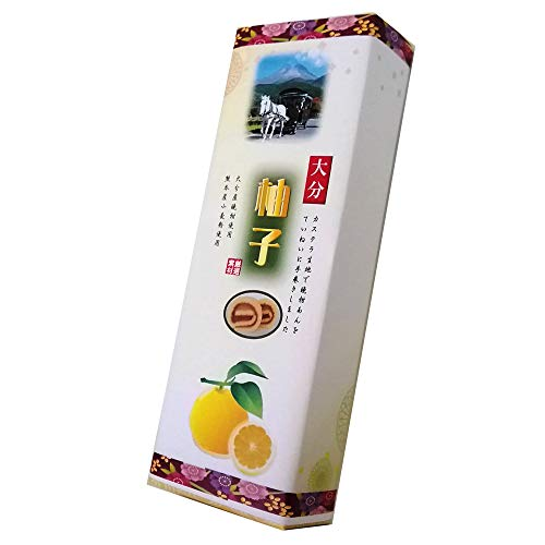 大分柚子あん巻 細箱×1箱 イソップ製菓 カステラ生地で柚子あんを手巻きにした郷土菓子