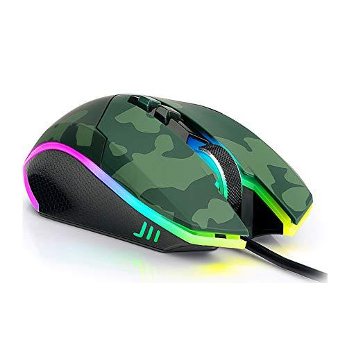 EASON Maus, Gaming RGB Erschwerende Maus mit Druckpistole Huhn Essen Internet Cafes Dedicated to Gaming