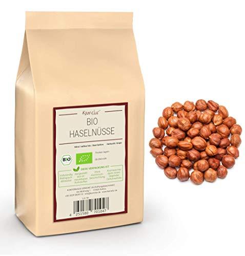 1kg naturbelassene Bio Haselnüsse, ganze Bio Haselnuss Kerne ohne Schale und ohne Zusätze