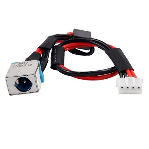 Movilideas PJ253 DC Power Jack Conector con Cable de 4 Pines para Portatiles Acer
