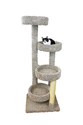 New Cat Condos 190113-Neutral Color Solid Wood Large Cat Playground, Neutral, Large