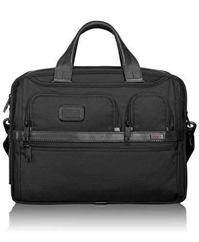 TUMI - Alpha 2 Expandable Organizer Laptop Brief Briefcase - 15 Inch Computer Bag for Men and Women - Black