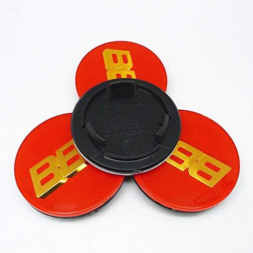 SYWY Tapas para Llantas 4pcs 70mm Compatible con BBS RM RZ RG RS RIZ Rims CUBIERTE CUBIERTE Cover Emblem Cap con Base Cubierta Central (Color : C)