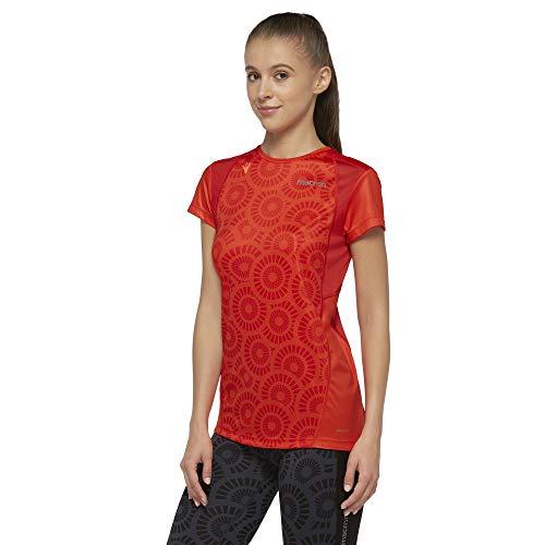 Macron Patricia T-Shirt de Course pour Femme XS Rouge (Mandarin/Flame)