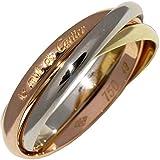 [カルティエ]Cartier K18YG/K18WG/K18PG トリニティリング(幅2ミリ) 指輪 #49(9号) 中古
