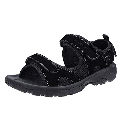 CAMEL CROWN Herren Outdoor Sports Sandalen Trekking Waterproof Wandersandalen Strand Sommer Männer Sandalen Schuhe Klettverschluss