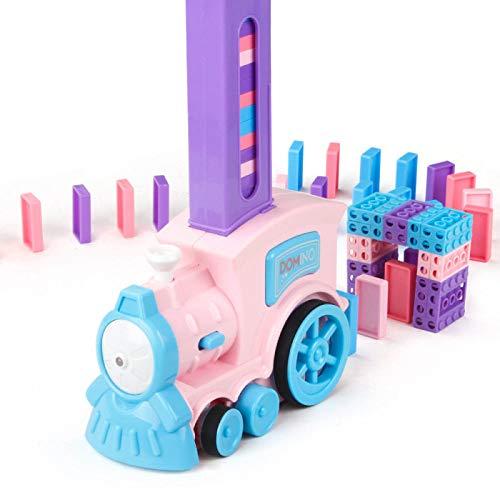 Domino Train, Puzzle automáticamente pone bloques de juguete de tren macarons (más de 3 años)