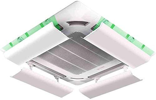 SPARROW Condizionatore d'Aria deflettore for soffitto Aria condizionata Centrale Leggero in plastica Angolo Regolabile Facile Installazione prevenire Il raffreddore Aria soffi Diritto (One Piece)