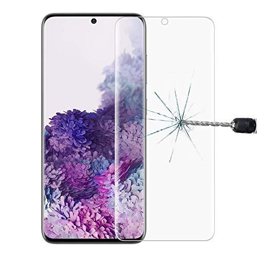 Wigento Für Samsung Galaxy S20 Plus G985F LCD Display Premium 2X 4D 0,3 mm H9 Schutzglas Panzerglas gebogen für Schutz der Ecken Transparent Folie Neu