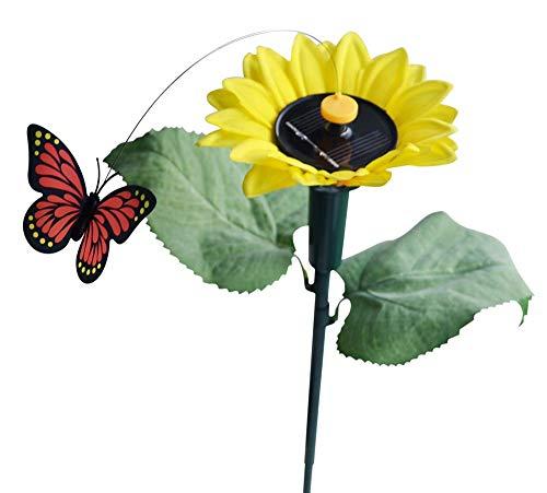 Solaration 7007 Fluttering Butterfly w./ Sunflower Solar Garden Yard Stake