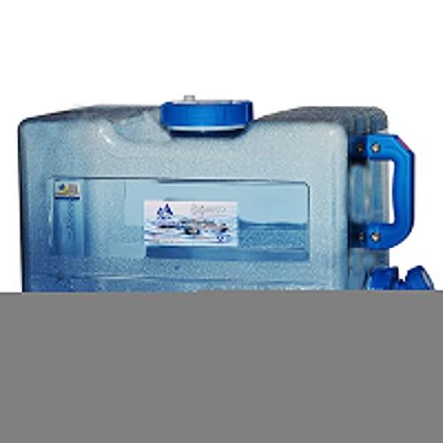Xinying Bidón de Agua Potable portátil, bidón de Agua, 618L con Grifo de Comida de Boca Ancha Gratis para Acampar Coche Azul portátil Adecuado para Acampar y Conducir al Aire Libre Clever