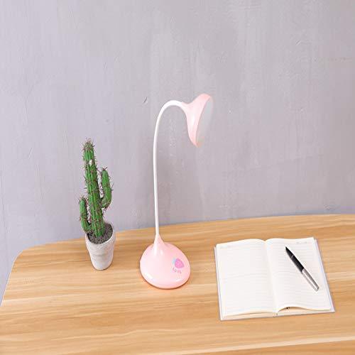 Led Schreibtischlampe Student Augenschutz Schlafzimmer Usb Scheinwerfer Tier Verdunkelung Kreatives Lernen Lesen Nachtlicht Rosa Rundkopf