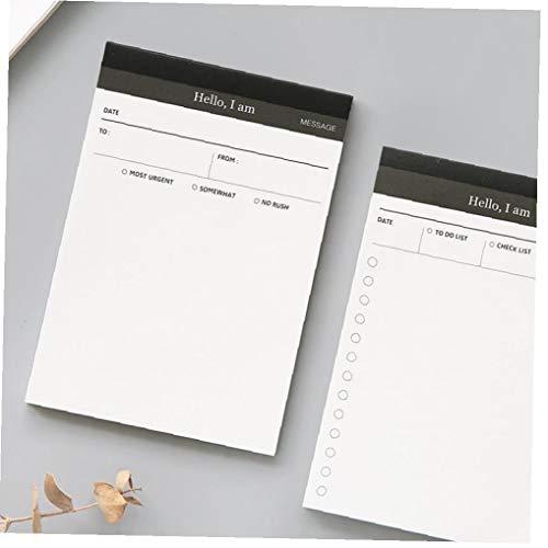 Mini Carta Memo Pad Pratica Daily Planner Creativo Desk Check List Ufficio Scolastico Cancelleria Adesivi Planner