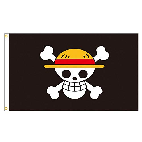 Sweet&rro17 150 × 90 cm Anime One Piece Flagge Straw Hat Pirates Flag(Luffy)