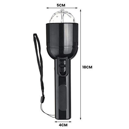 SDTLE Lampe de torche de lampe de poche en cristal coloré coloré portatif LED à double usage 2 en 1 lampe de scène à 3W LED
