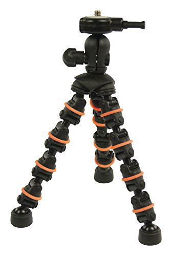 Eurosell Flexibles 18cm Mini Tischstativ Kamerastativ flexibel Tripod zb kompatibel mit Canon Fuji Rollei gorillapod Gopro Canon Nikon Samsung Sony Eaypix Medion Digitalkamera Actioncam SLR etc