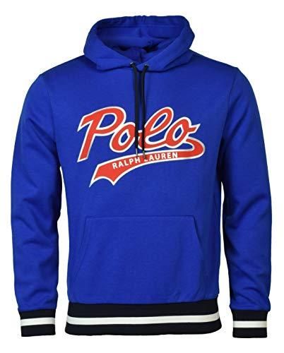 Polo Ralph Lauren Men's Double-Knit Graphic Logo Hoodie - M - Blue