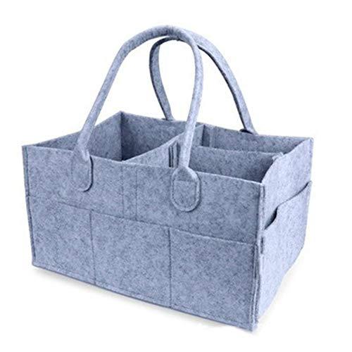 Ashley GAO Bolsa de almacenamiento de pañales de fieltro para bebé, bolsa de almacenamiento portátil para guardería, bolsa de viaje de coche, bolsa de toallitas para bebés