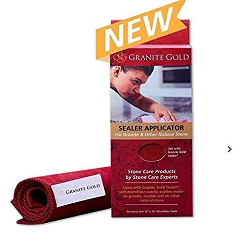 Granite Gold GG0092 Sealer Applicator Cloth, 3-Pack, Red