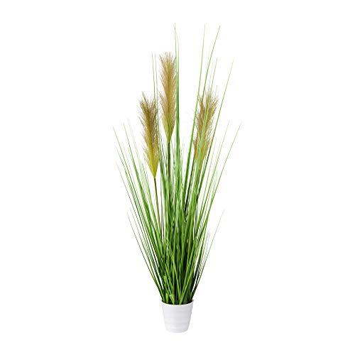 Creativ green Kunstpflanze Gras, Dekogras, Grasbusch im weissen Topf (80 cm)