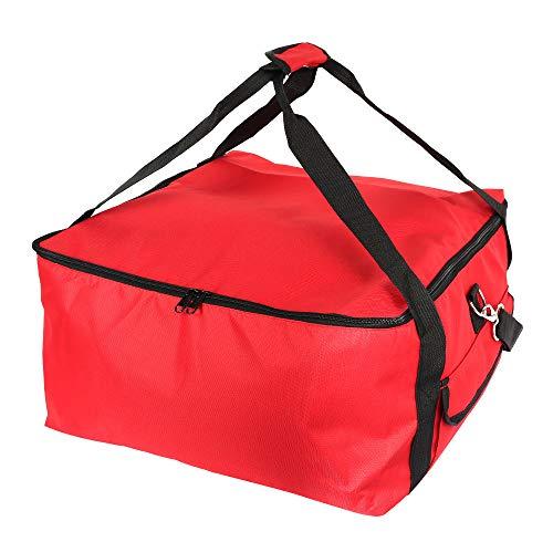 Pizzatasche Isolierte Pizza-Liefertasche,Pizza-Liefertasche,Thermo-Picknick-Tasche mit Oxford-Stoff,Aluminiumfolie,für heiße Speisen,wiederverwendbar,zum Mitnehmen 42 * 42 * 23cm